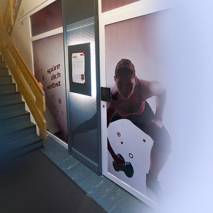 Eingangsbereich proLife Fitnessstudio